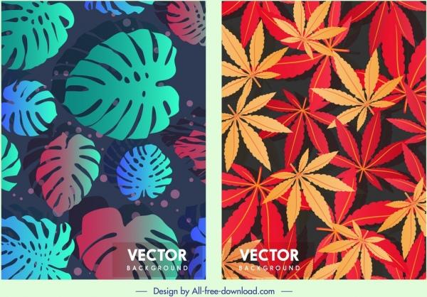 leaf background templates dark colors blend decor