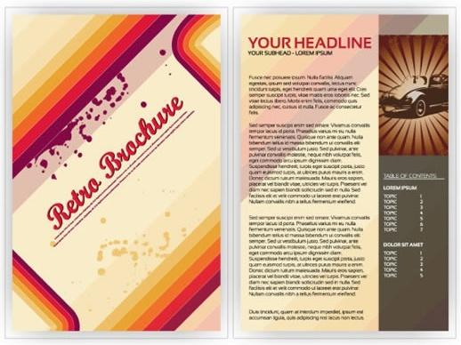 brochure template retro grunge decor