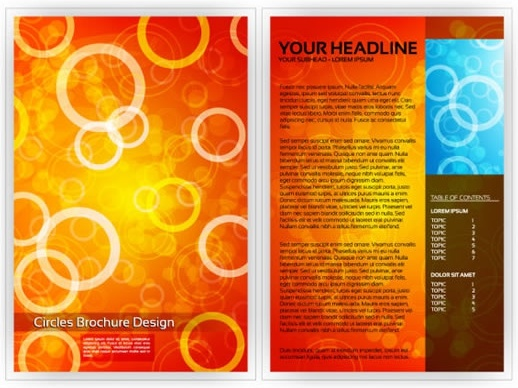 brochure template modern dynamic circles decor