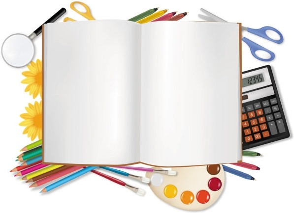 learn stationery 04 vector