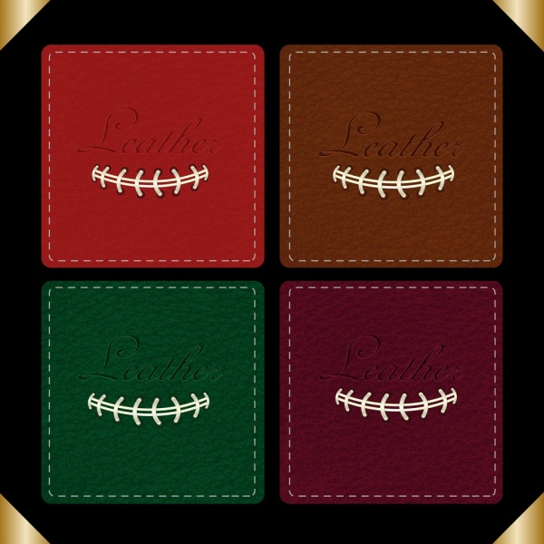 leather pattern collection various multicolored squares design