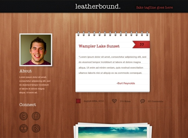 Leatherbound Tumblr Theme