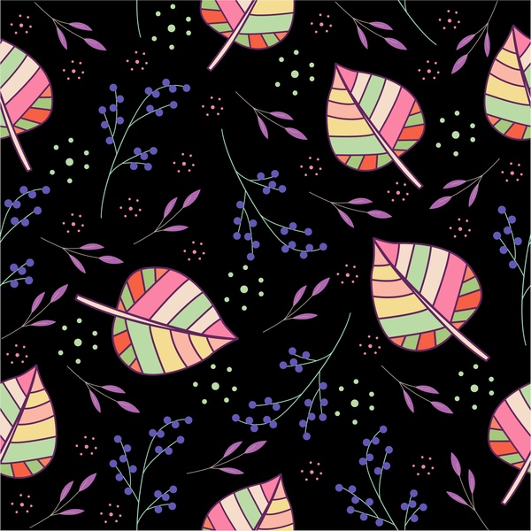 leaves pattern design on dark background