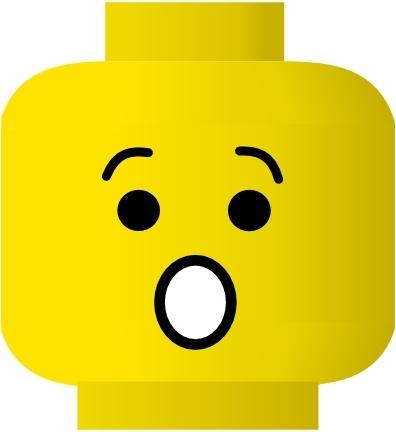 Lego Smile Shocked clip art