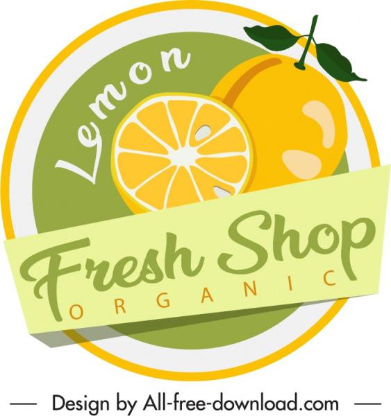 lemon label template colored flat handdrawn sketch