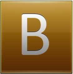Letter B gold