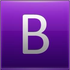 Letter B violet