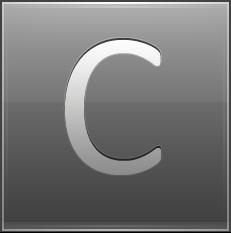 Letter C grey