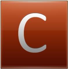 Letter C orange