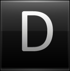 Letter D black
