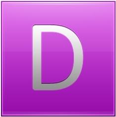Letter D pink
