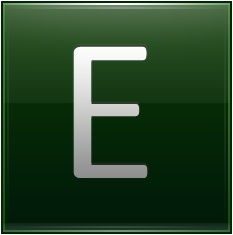 Letter E dg