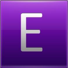 Letter E violet