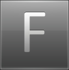 Letter F grey