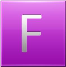 Letter F pink