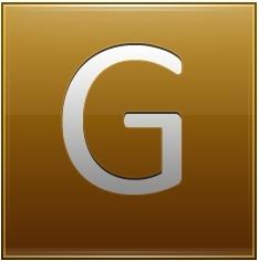 Letter G gold