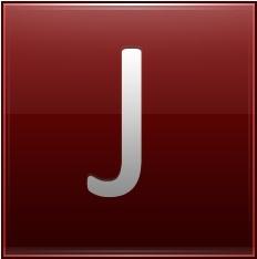 Letter J red