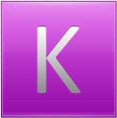 Letter K pink