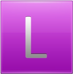 Letter L pink