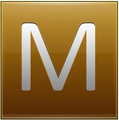 Letter M gold