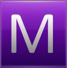 Letter M violet