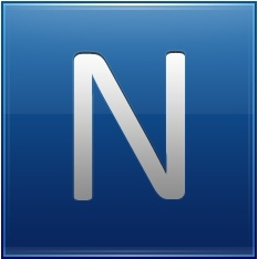 Letter N blue