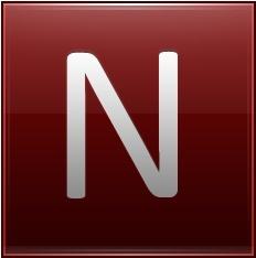 Letter N red