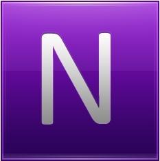 Letter N violet