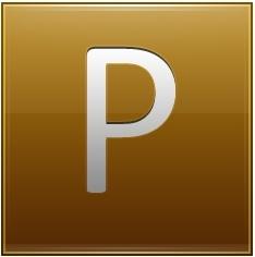 Letter P gold