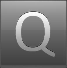 Letter Q grey