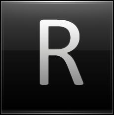 Letter R black