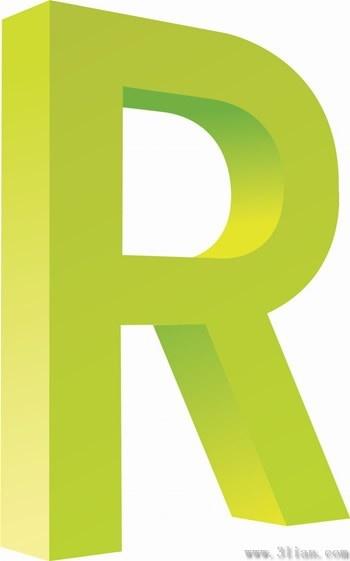Letter R Icon Vector Free Vector In Adobe Illustrator Ai Ai