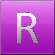 Letter R pink