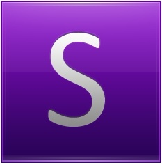 Letter S violet