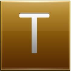 Letter T gold