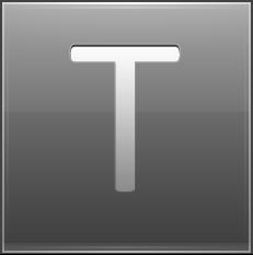 Letter T grey