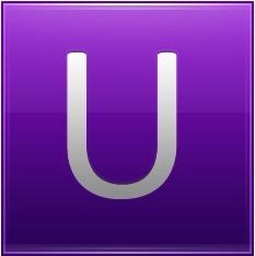 Letter U violet