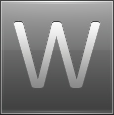 Letter W grey