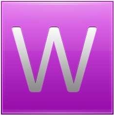 Letter W pink