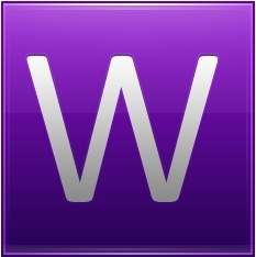 Letter W violet
