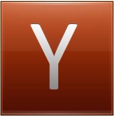Letter Y orange