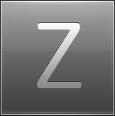 Letter Z grey