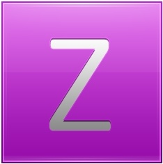 Letter Z pink