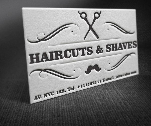 Letterpress barber shop business cards free template free vector in letterpress barber shop business cards free template accmission Choice Image