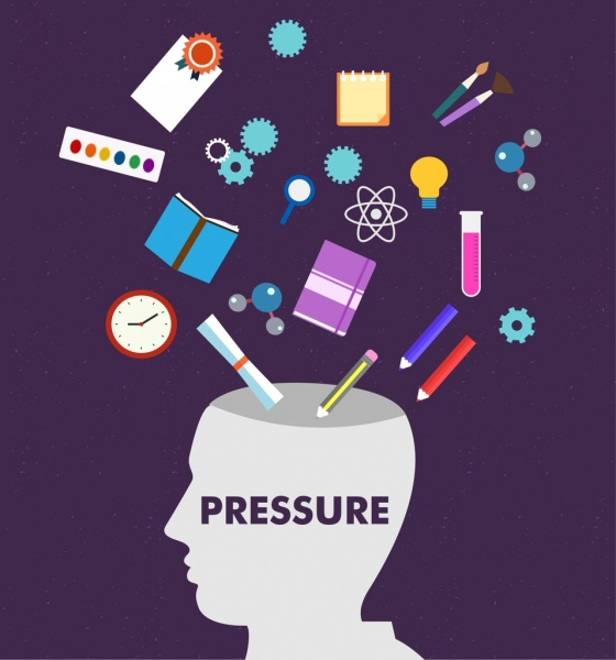 life pressure concept background human head tools icons