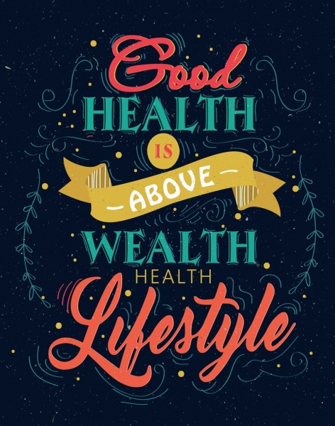 lifestyle banner colorful dark design calligraphic ribbon decor