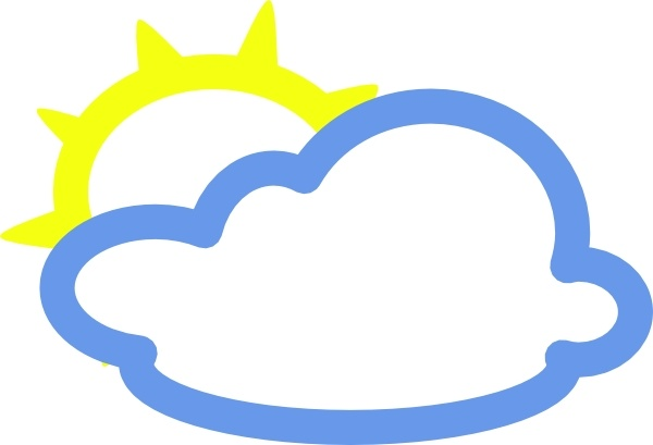 Light Clouds And Sun Weather Symbol Clip Art Free Vector In Open