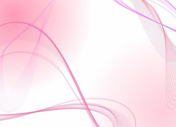 Attractive Light Pink Wave Lines Vector Background