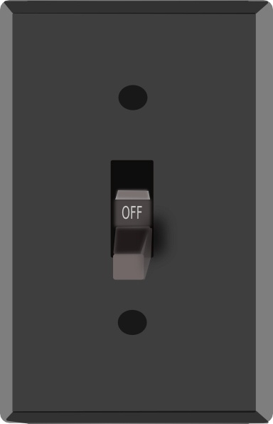 light switch off clip art free vector in open office