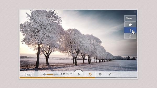 Light Video Player PSD